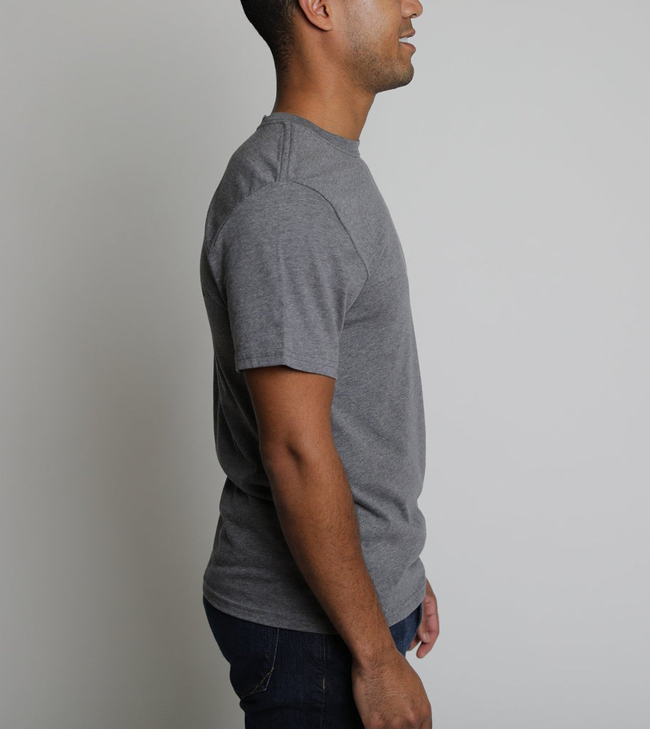 Fly - Short Sleeve - Heather Grey - The Lake and Company