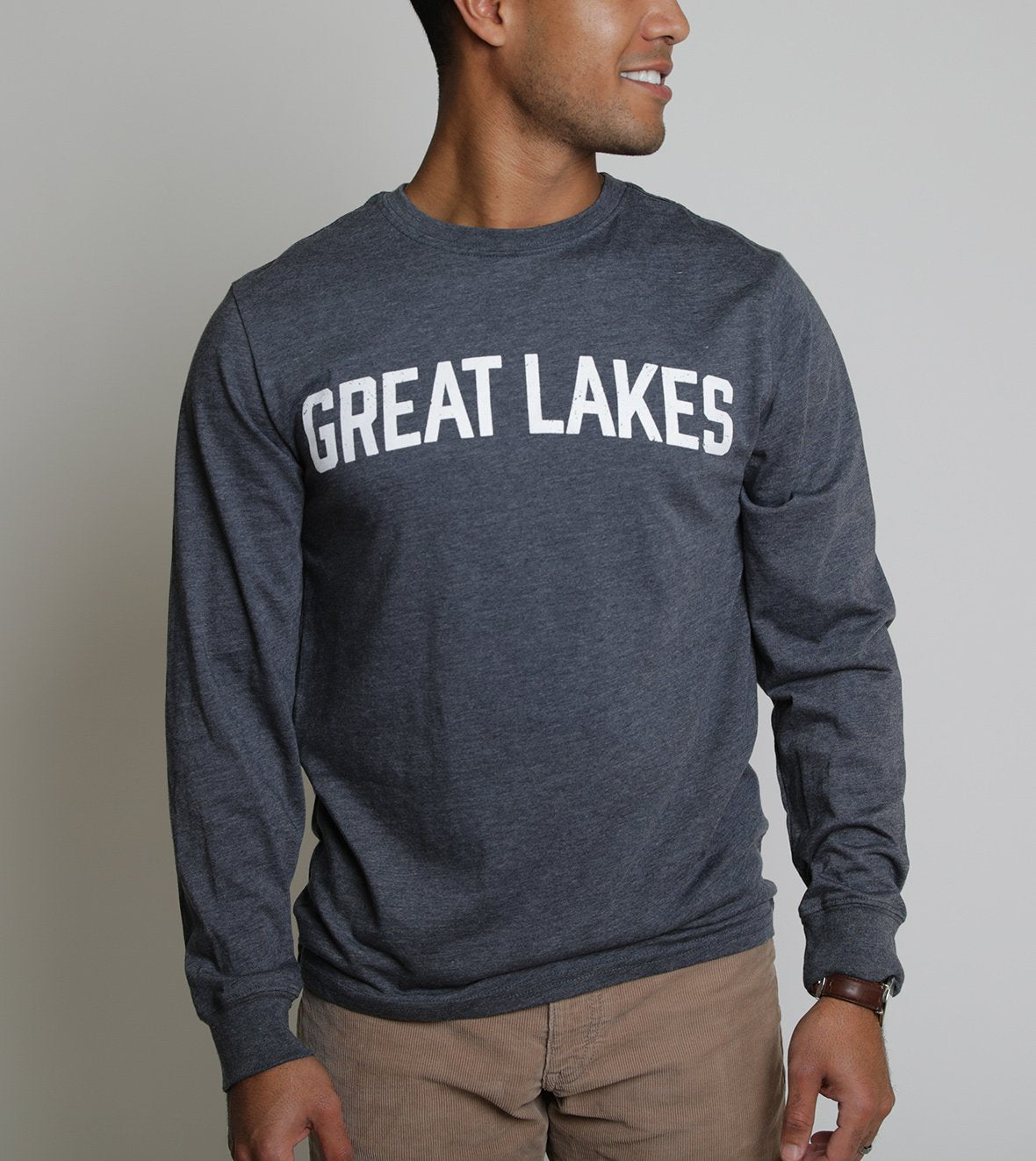 Weathered Tee - Long Sleeve - Heather Navy - The Lake and Company