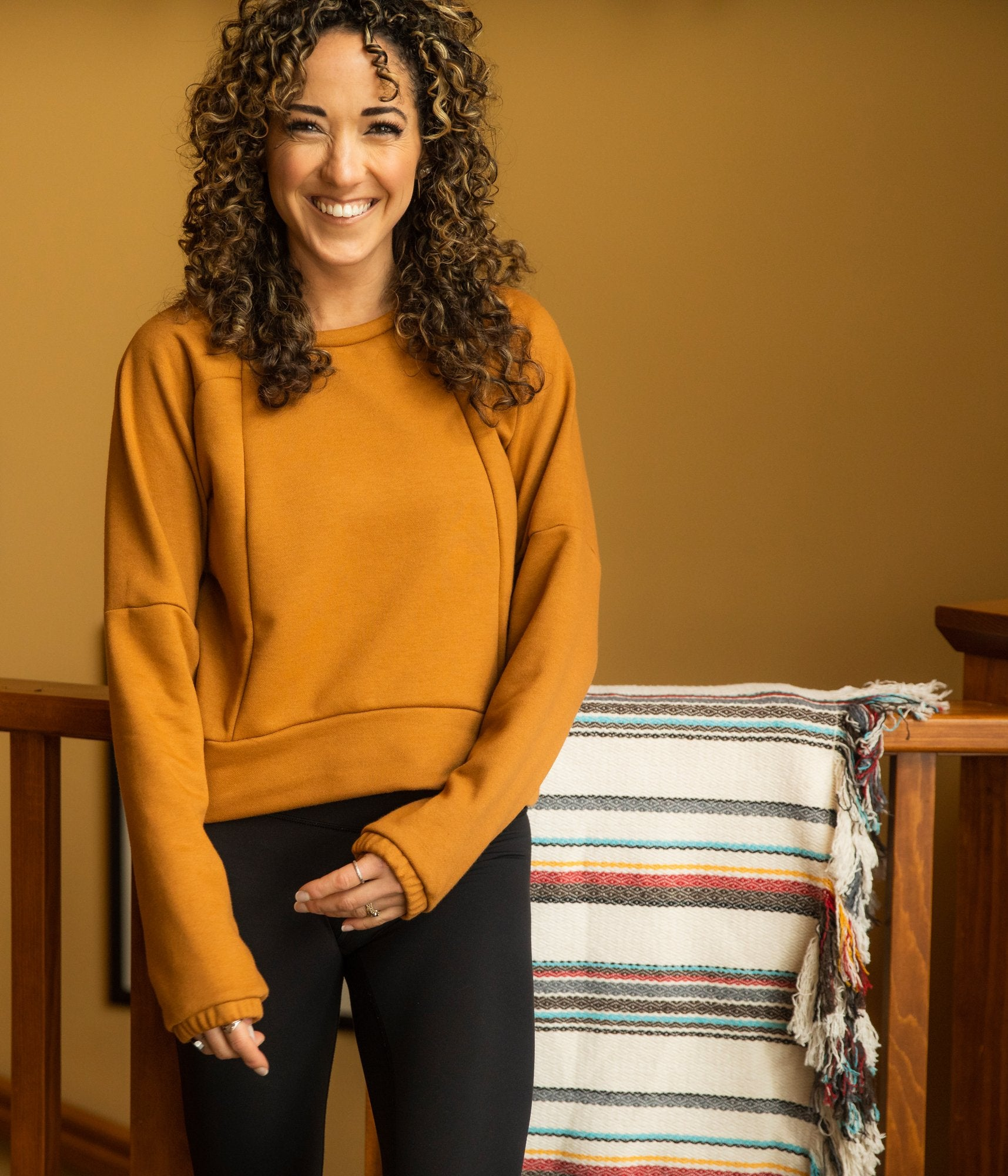 Leland Pullover - Desert Camel - The Lake and Company