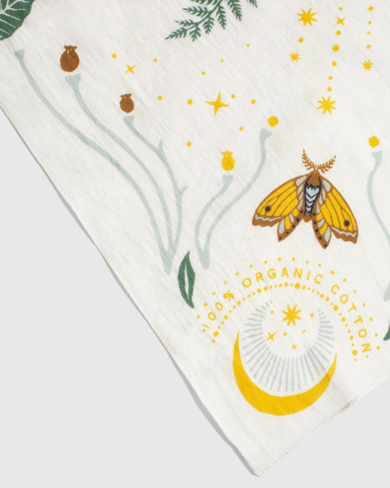 Moth and Moon Bandana - Cream - The Lake and Company