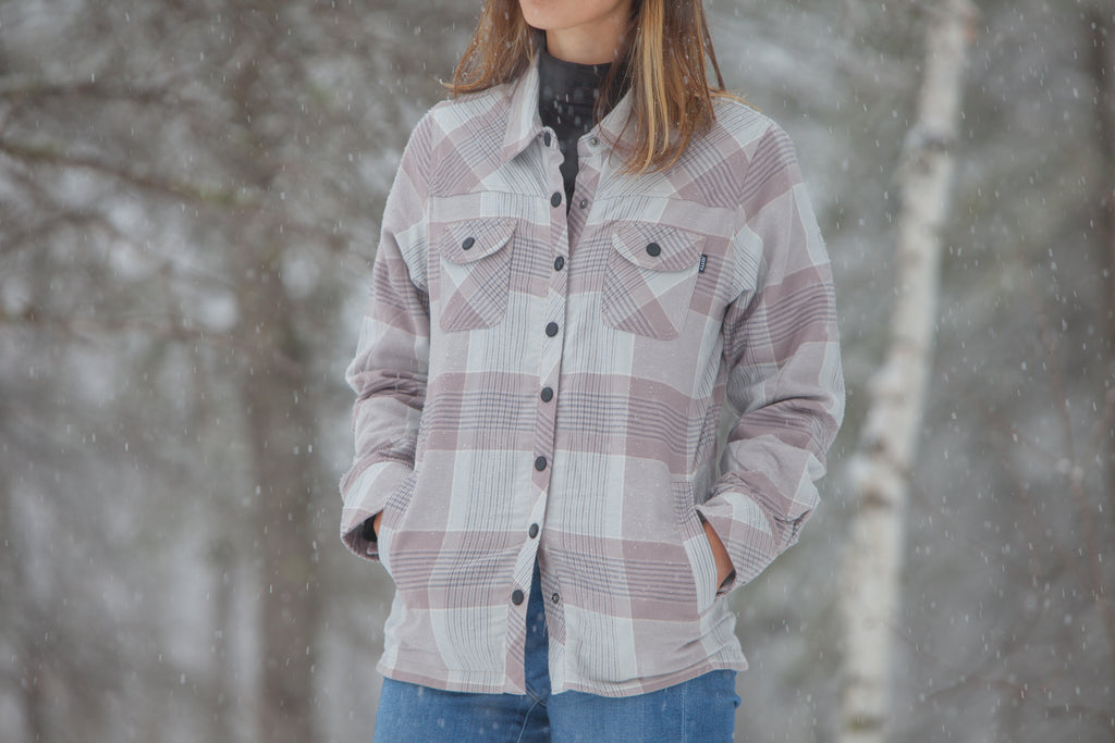 Women's Fallbrook Sherpa Top - Grey - The Lake and Company