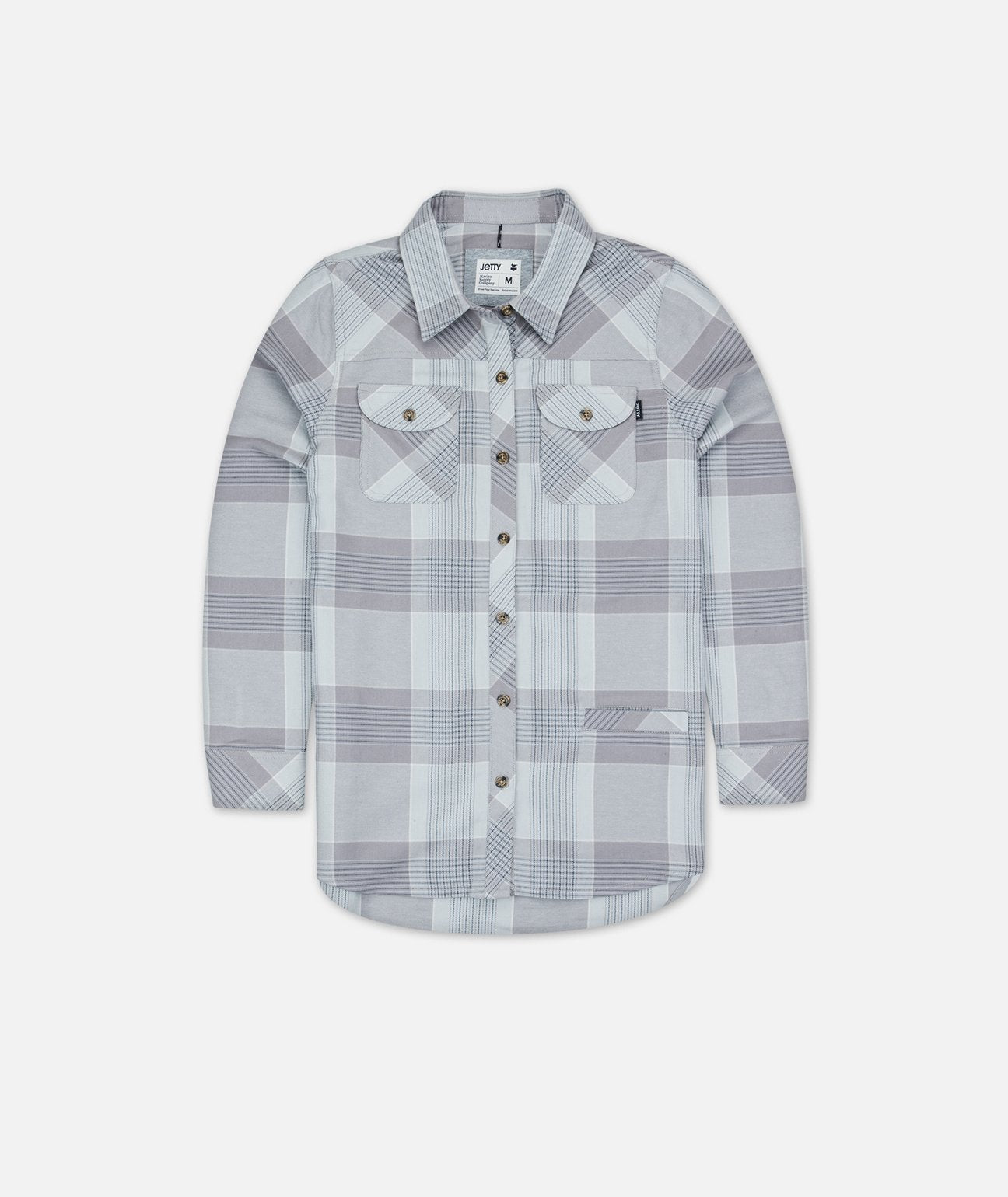 Women's Tellulah Flannel Shirt - Grey - The Lake and Company