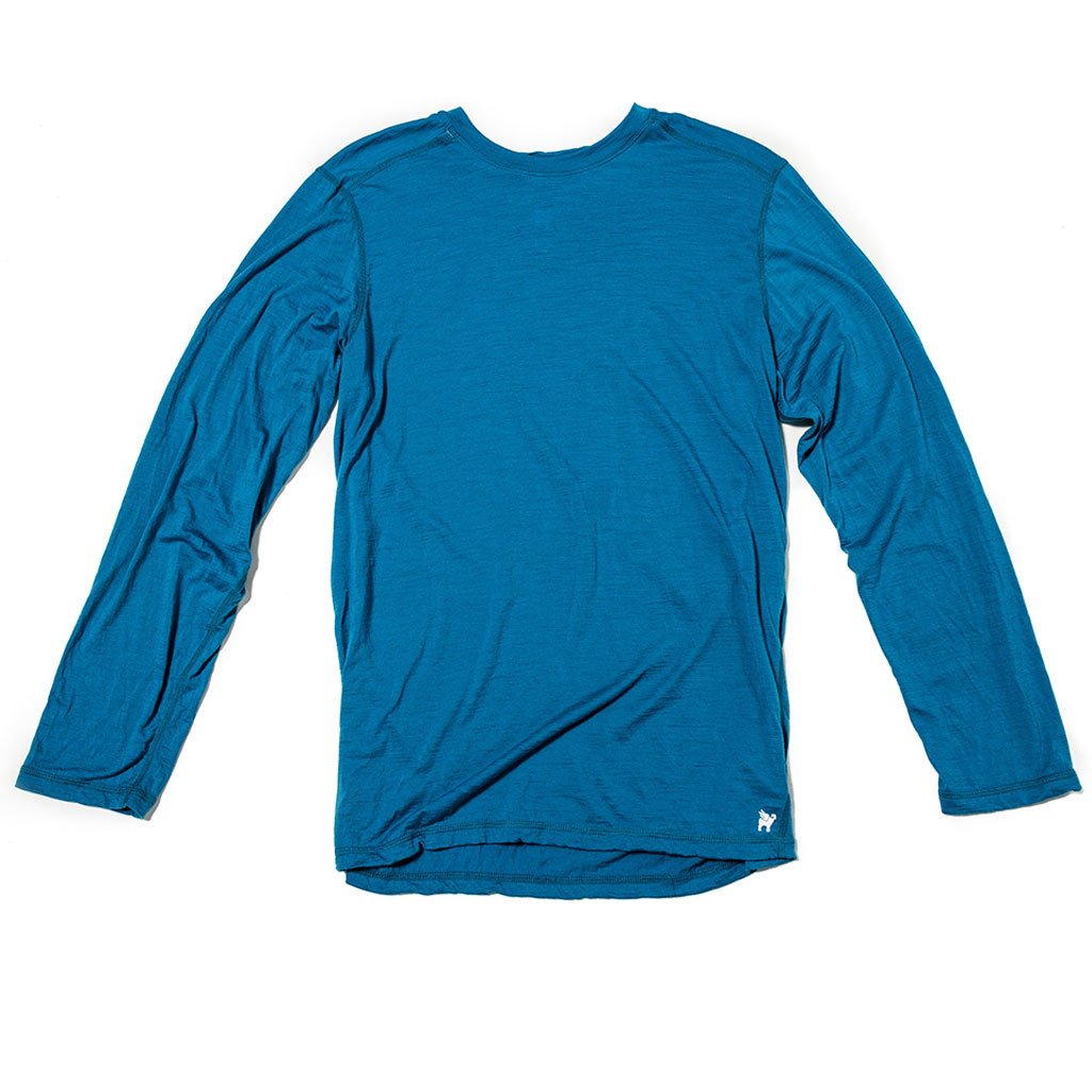 Men's Transit Long Sleeve Merino Wool Tee - The Lake and Company