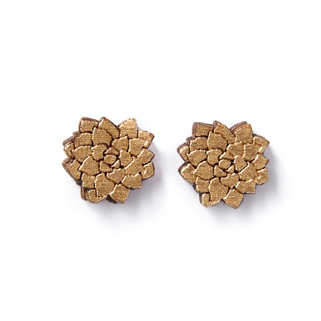 Flower Studs - Gold - The Lake and Company