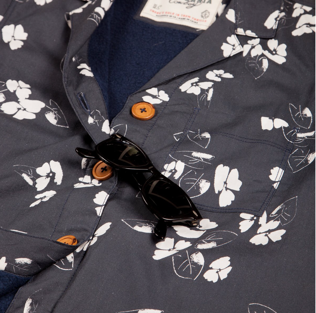 Women's High Water Shirt - California Poppy Washed Navy - The Lake and Company
