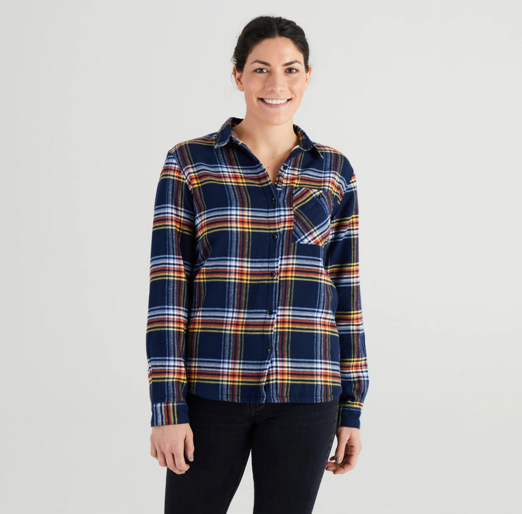 Women's High Sierra Flannel Shirt - Daffy Plaid - The Lake and Company