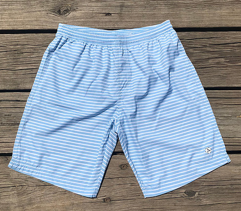 Men's Boat Shorts - Seafoam/White Stripe - The Lake and Company