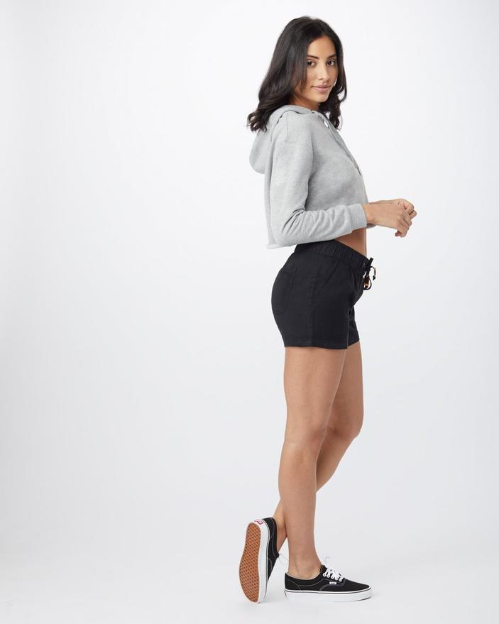 Women's Instow Pull-On Shorts - Meteorite Black - The Lake and Company