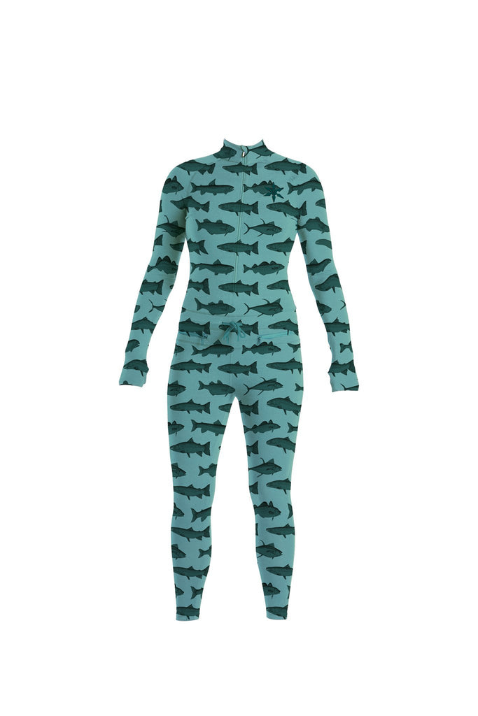Women's Hoodless Ninja Suit - Mint Fish - The Lake and Company