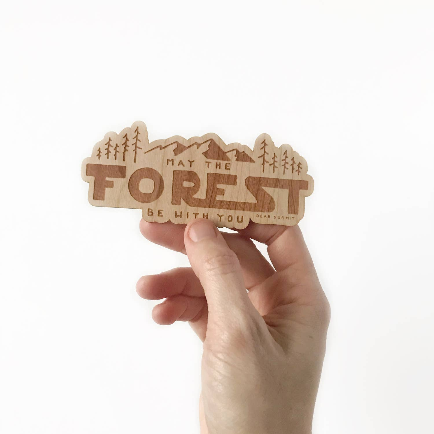 'May the Forest be with You' Wooden Sticker - The Lake and Company