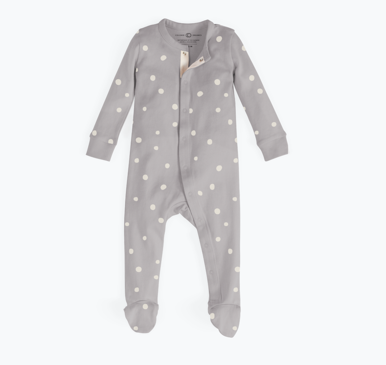 Skylar Footed Sleeper - Storm Scatter Dot - The Lake and Company