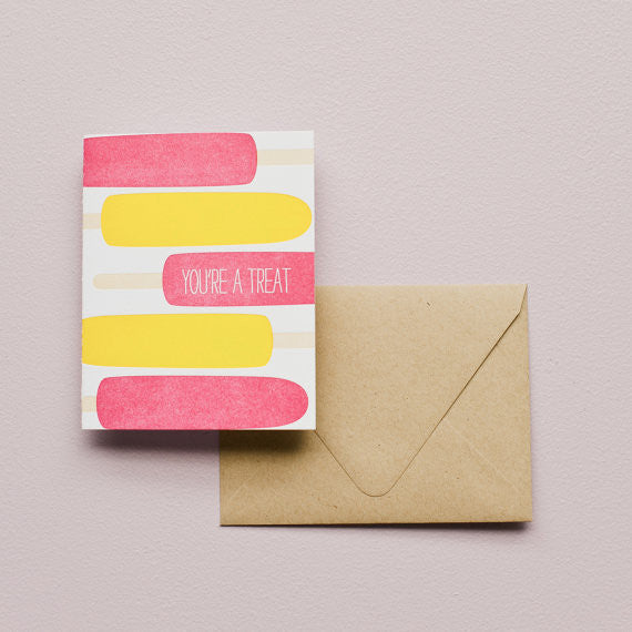 Popsicles- You're a Treat! Card - The Lake and Company