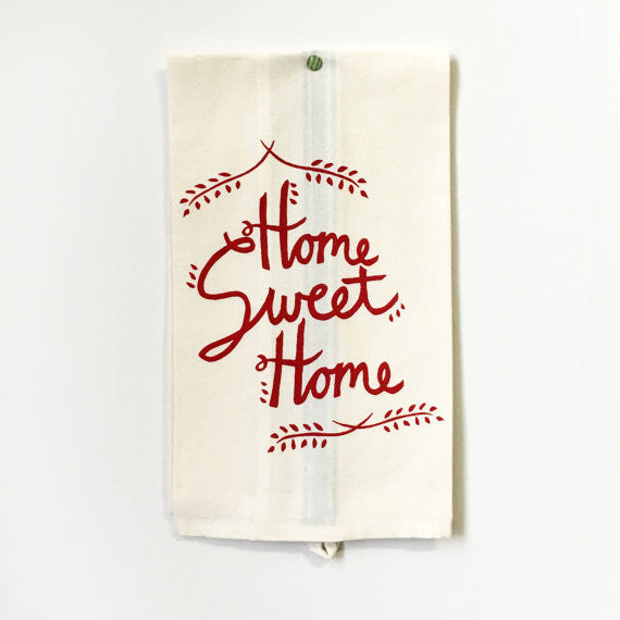 Red Home Sweet Home Towel