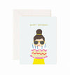 Cake Lady Birthday Card