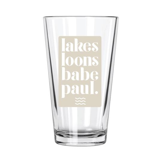 Minnesota Things Pint Glasses - The Lake and Company