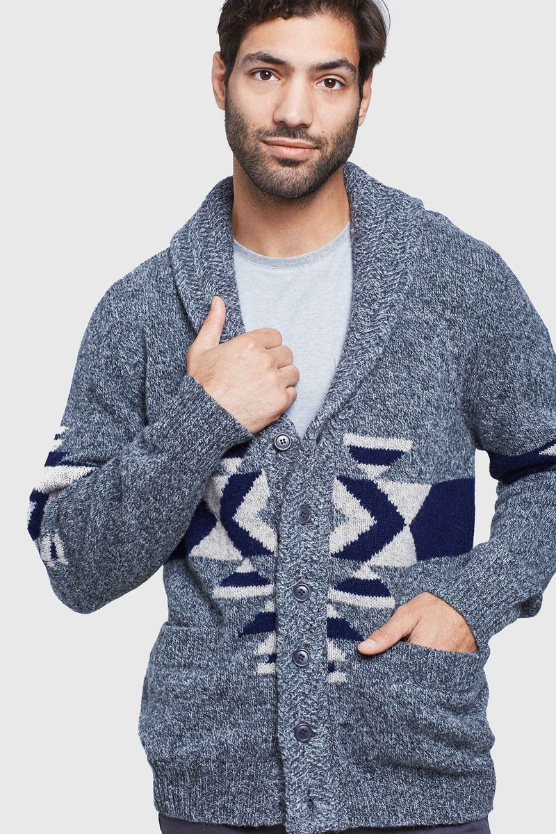 Men's Shetland Cardigan - The Lake and Company