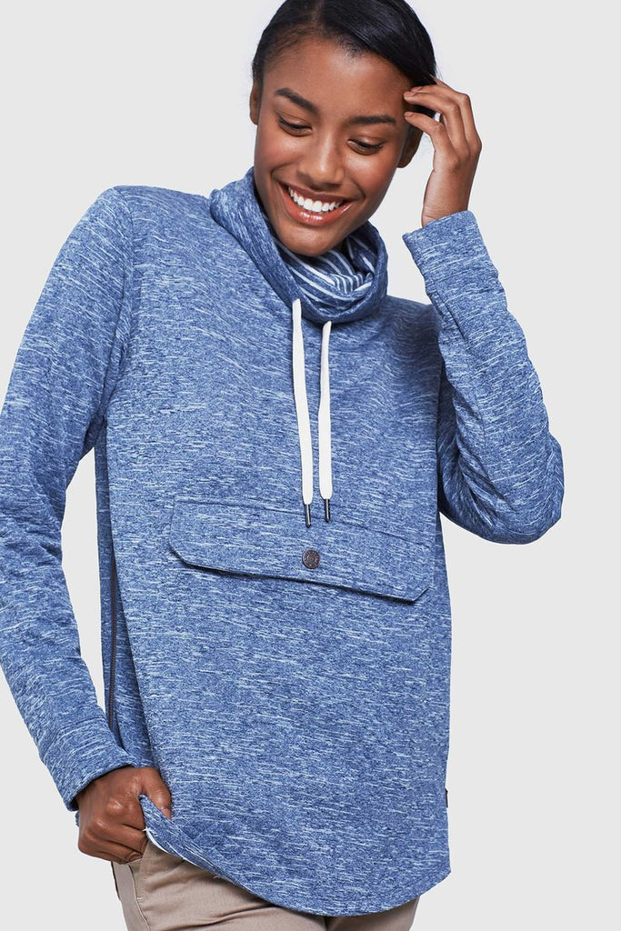 Women's Quilted Mockneck Sweatshirt - The Lake and Company
