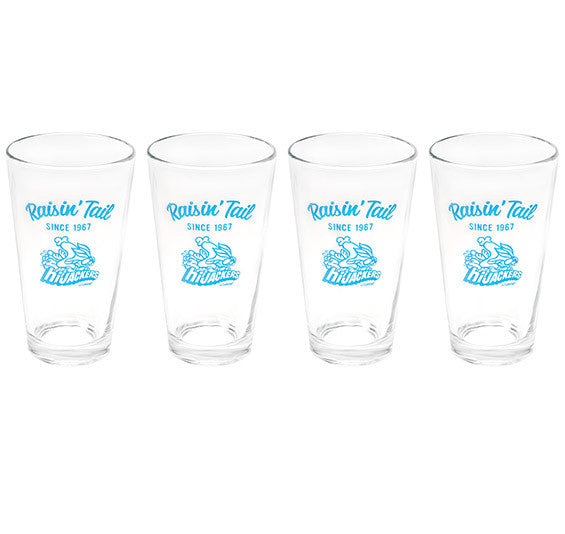 Set of 4 HiJackers Pint Glasses
