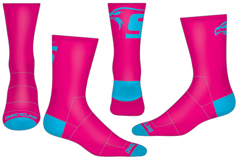 "Skyline HS 6"" Performance Sock (navy or pink)"