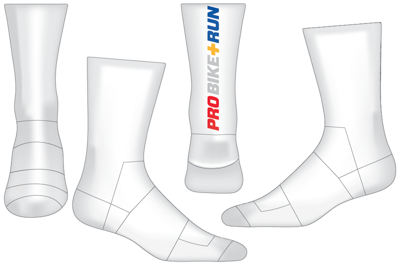 "UPMC 6"" Performance Sock - WHITE"