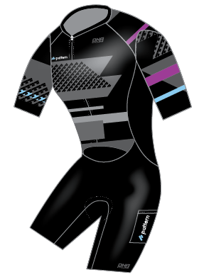Pattern S/S Tri Skin Suit