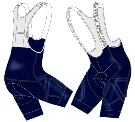 Bicycle Friends 2020 Race Bib Short - NAVY