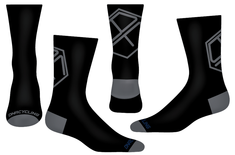 "Bicycle Friends 2020 6"" Socks - BLACK"