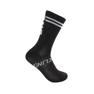 "6"" Black Performance Sock"