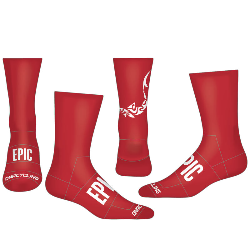 "Epic 6"" Performance Sock - RACE RED"