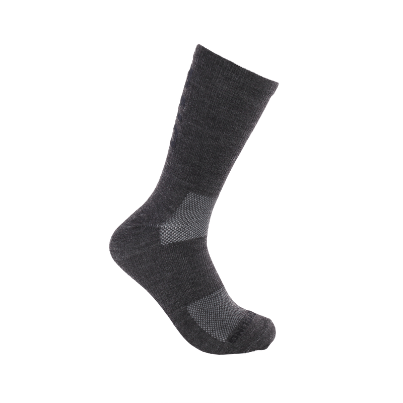 "6"" Performance Sock - Charcoal wool"