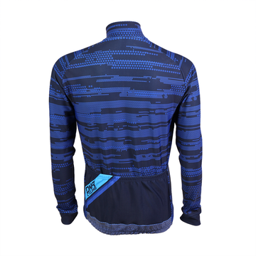 Morse Code Navy Thermal Long Sleeve Jersey