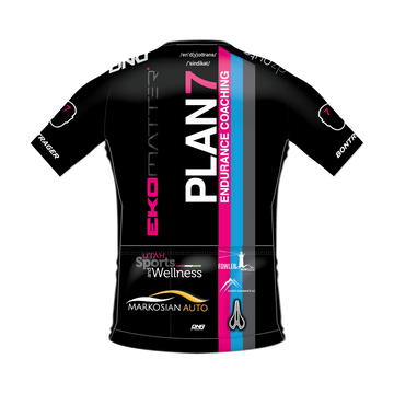 Plan 7 Race Day Jersey with Biofit Fabric-PINK