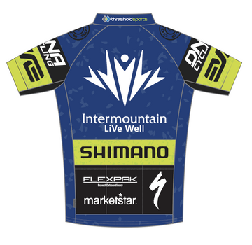 2015 Threshold Blue Green Short Sleeve Elite Jersey