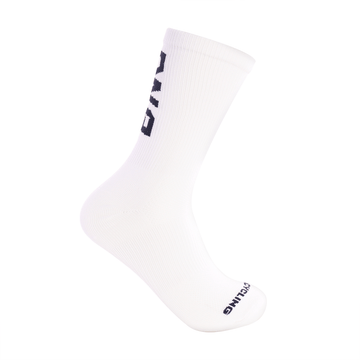 "6"" Performance Sock White & Navy"