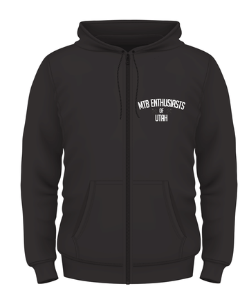 MTB Enthusiasts of Utah Hoodie Small Logo