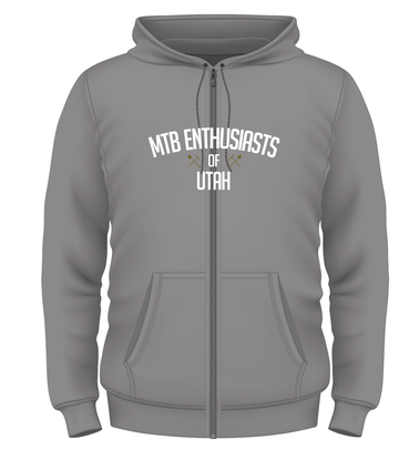 MTB Enthusiasts of Utah Hoodie Large Logo