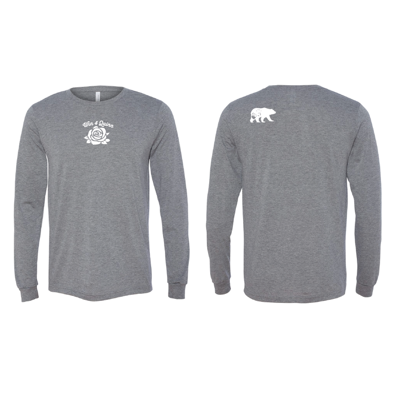 Win4Quinn Long Sleeve Tee - GRAY