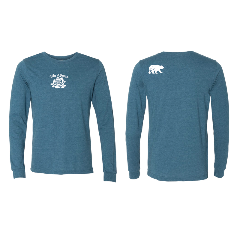 Win4Quinn Long Sleeve Tee - TEAL
