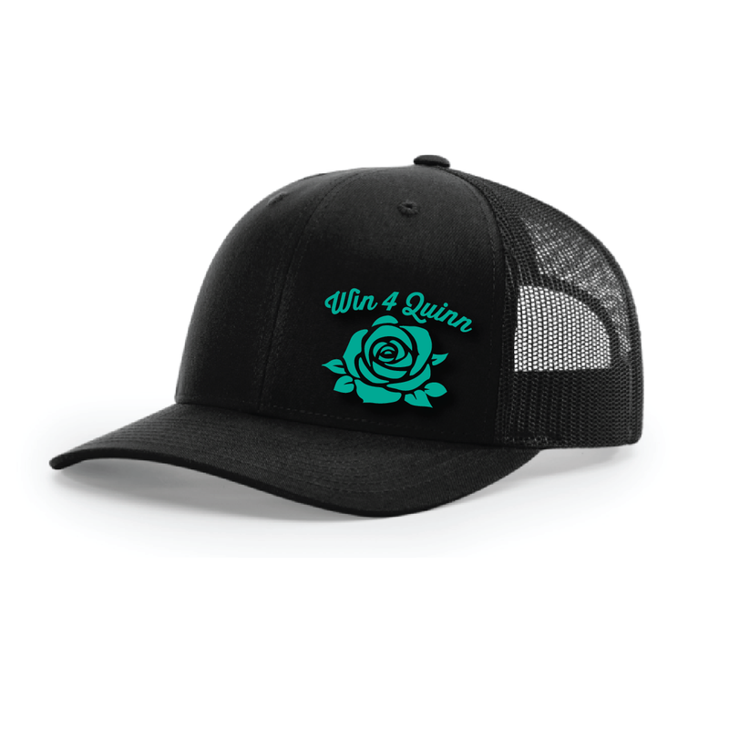Win4Quinn Trucker Hat - BLACK