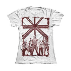 INCARNATE BAND PHOTO  GIRLS SKINNY TEE (White)