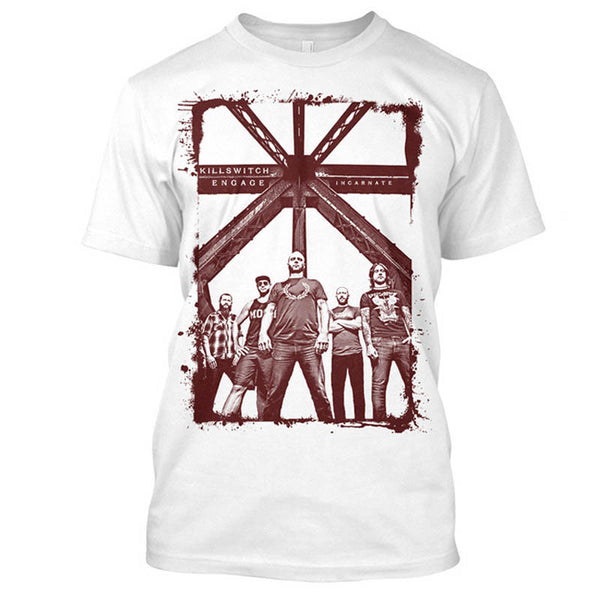 INCARNATE BAND PHOTO MENS TEE WHITE