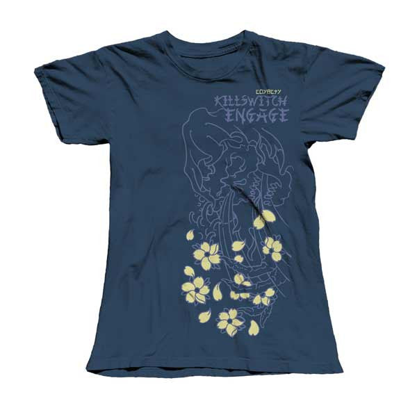 Blue Skull & Flowers Girls T-Shirt