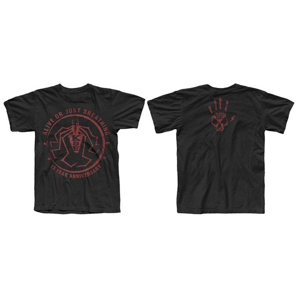 ALIVE OR JUST BREATHING 15TH ANNIVERSARY BLACK T-SHIRT