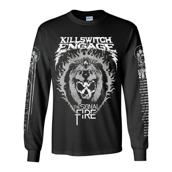 LIONS HEAD BLACK LONG SLEEVE TEE