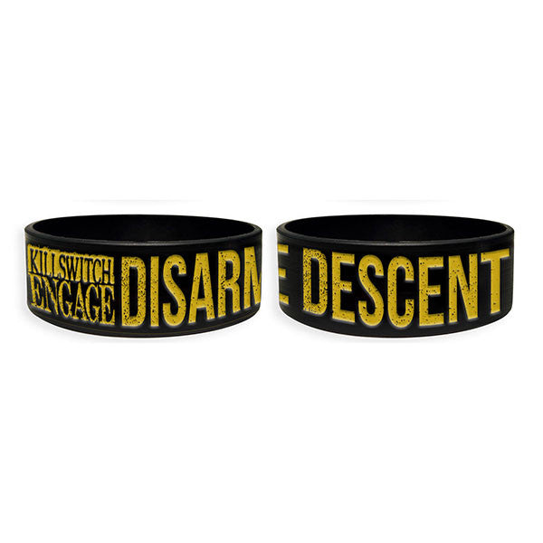 Black Disarm The Descent Silicone Wristband
