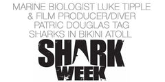 Scientist Luke Tipple and Patric Douglas research sharks