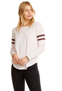 Blocked Jersey Yoke Tee