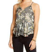 Peplum Button Down Cami