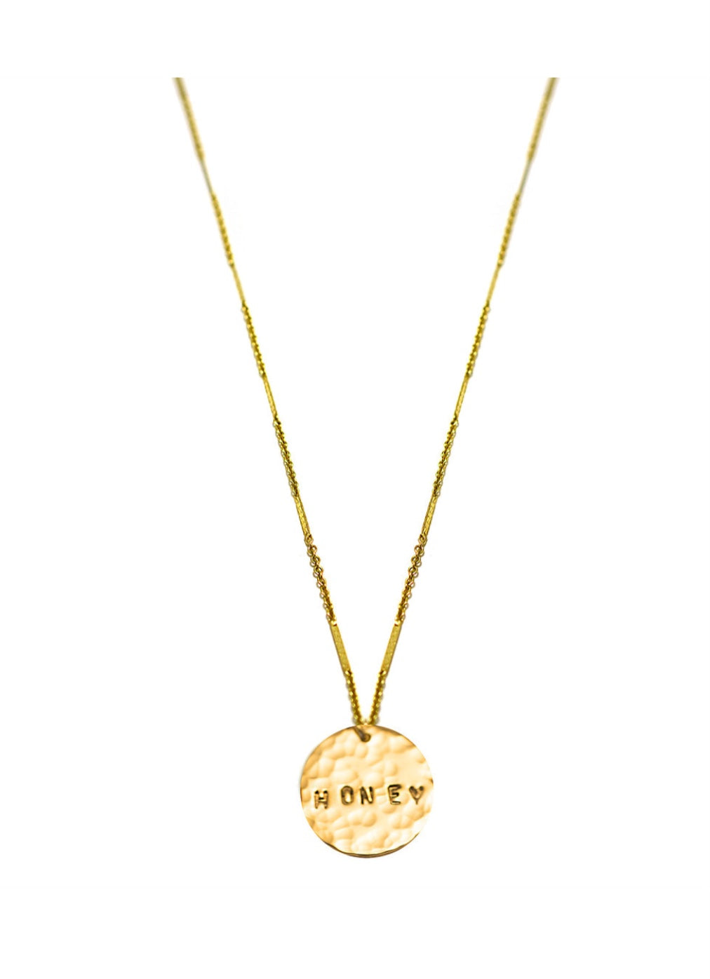 Honey Coin Necklace