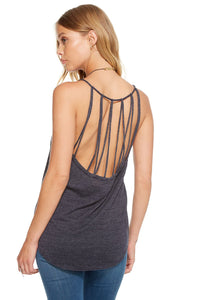 Strappy Back Shirttail Tank